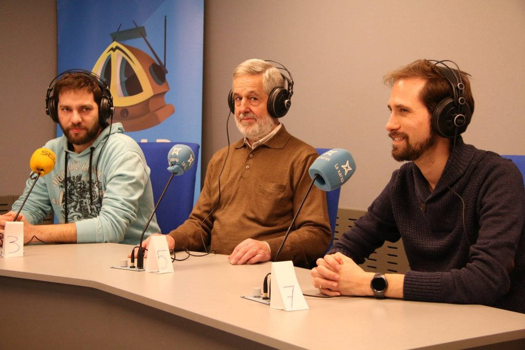 David Cobo, Joan Farré i Xavier Lozano, al programa de SER Catalunya. (Foto: Gerard Bosch)