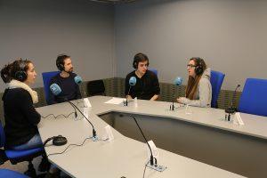 El dia Mundial de la Ràdio a l'Espluga FM Ràdio. (Foto: Antoni Sabaté)