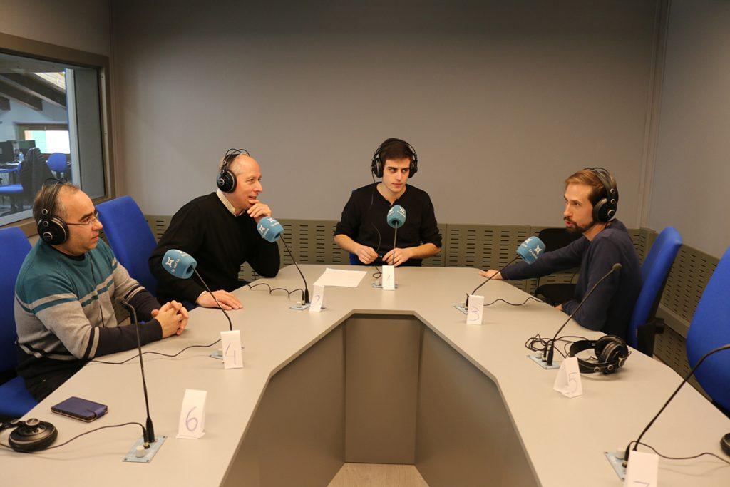 El dia Mundial de la Ràdio a l'Espluga FM Ràdio. (Foto: Josep Morató)