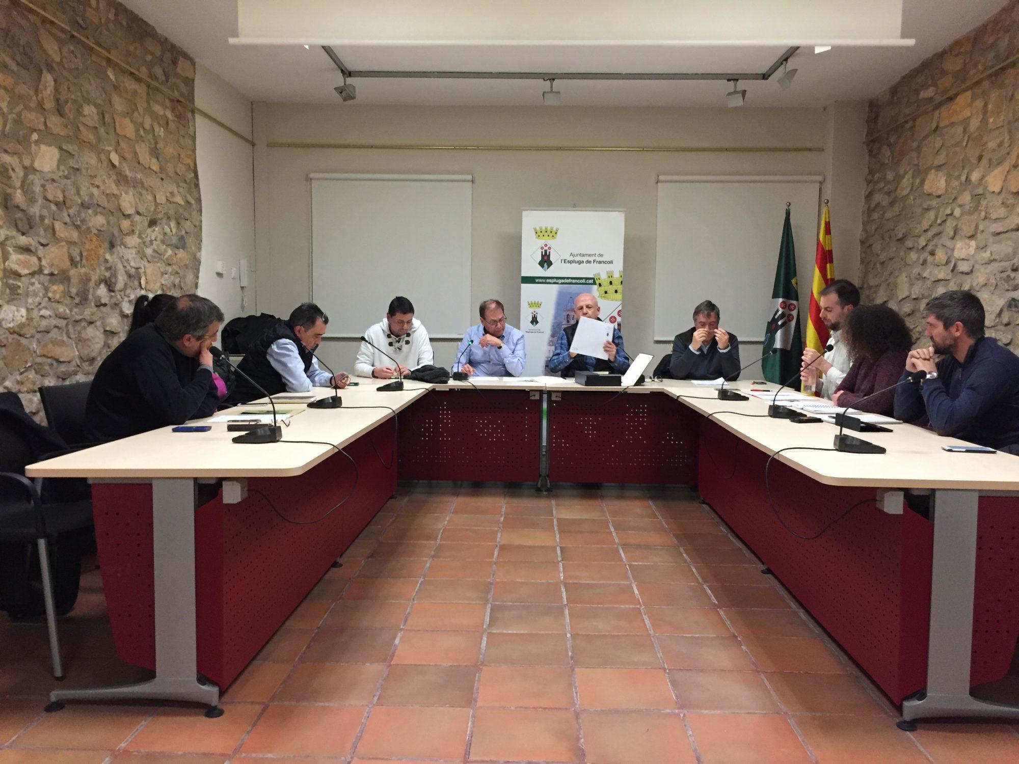 Ple Municipal de l'Ajuntament de l'Espluga del 26 de gener de 2017 (Foto: Xavier Lozano)