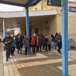 L'estrena de la Ruta de l'Escanyapobres, a l'estació de l'Espluga. (Foto: Xavier Lozano)