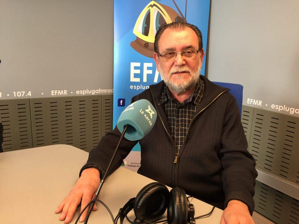 Mn. Estanis Figuerola, als estudis de l'EFMR. (Foto: Xavier Lozano)