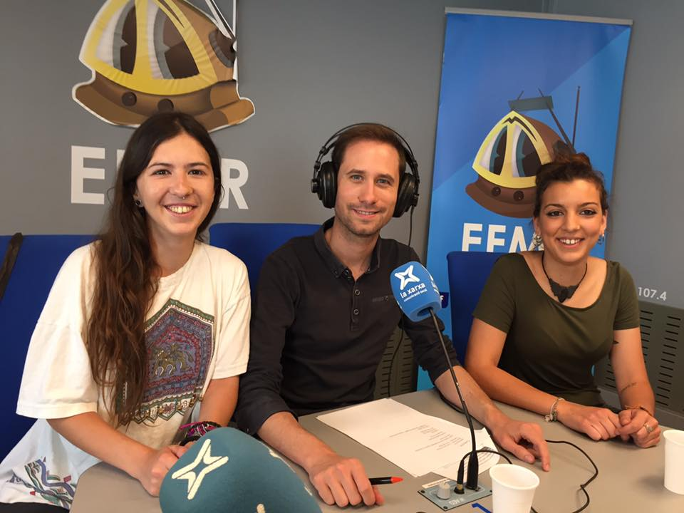 Helena Molina, Xavier Lozano i Alba Pascual a l'EFMR. (Foto: Antoni Sabaté)