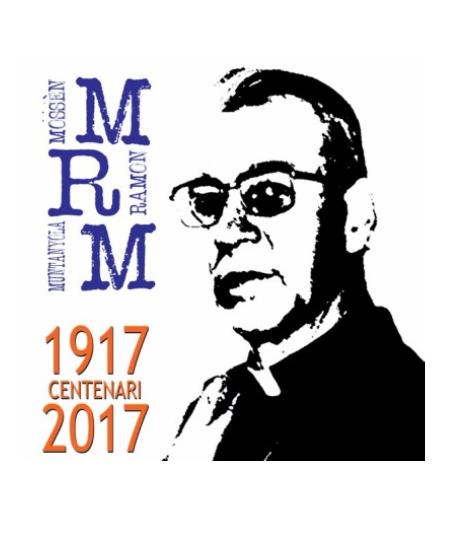 Logotip del centenari de Mn. Ramon Muntanyola