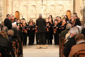 Concert de cloenda de l'Any Muntanyola a Poblet a càrrec de l'Schola Cantorum de la Selva del Camp. (Foto: Xavier Lozano)